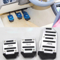 New Arrival 3Pcs Non-slip Car Accelerator Brake Foot Pedals Auto Vehicle Footrests Set