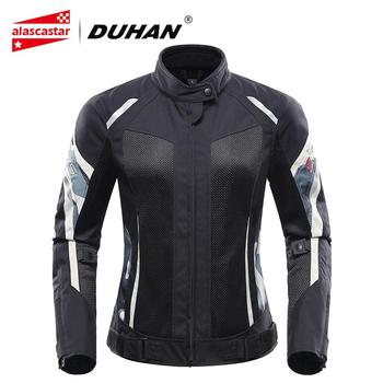 DUHAN Motorcycle Jacket Women Breathable Summer Chaqueta Moto Jacket And Motorcycle Pants Racing Riding Protection Clothing Suit