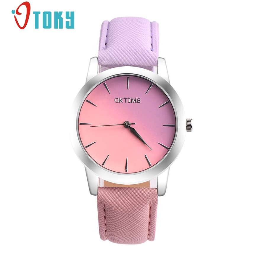 OTOKY Fashion Casual Women's Retro Rainbow Design Leather Band Analog Alloy Quartz Wrist Watch for women Drop 2017 #20 Gift 1pc fabulous 1pc new women watches retro design leather band simple design hot style analog alloy quartz wrist watch women relogio