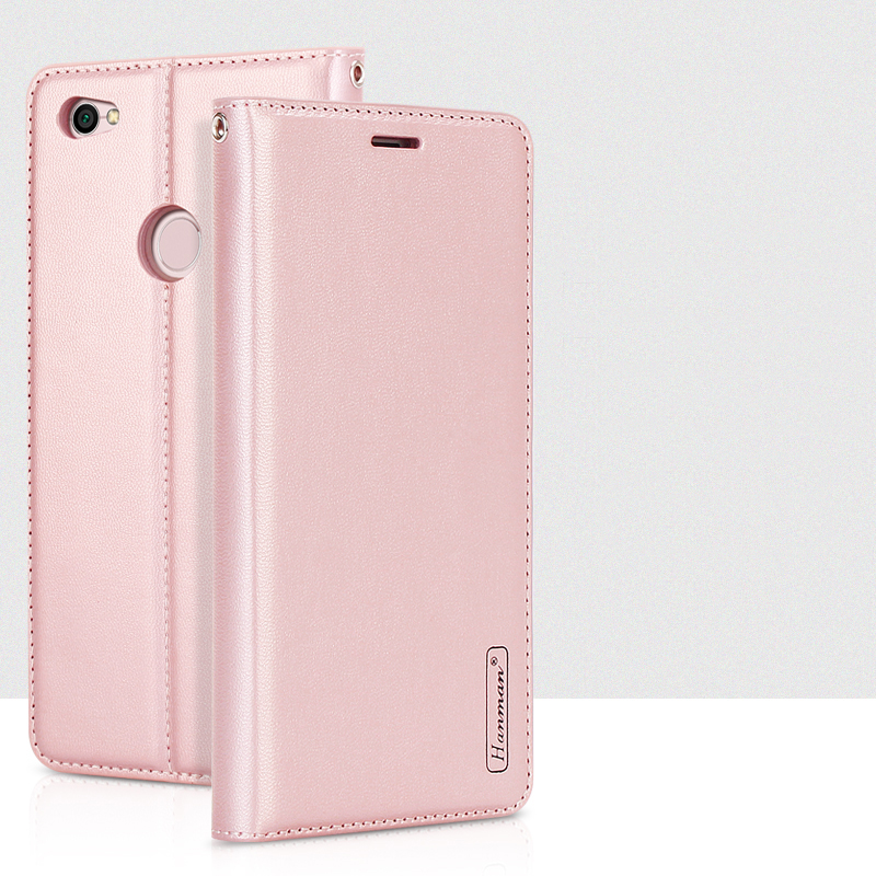 Véritable Hanman Pour Xiaomi Redmi Note 5A De Luxe En Cuir Portefeuille Cas Couverture Arrière de silicium Magnétique Fermer Carte Slot pour Redmi Note 5A