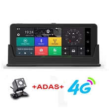 4G ADAS Car DVR GPS Navigation Camera 6.84″ Android 5.1 Bluetooth HD 1080P Video Recorder Registrar with two cameras