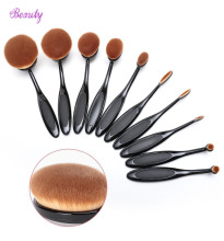 2016 New 10pcs/set Soft Makeup Brushes Shape Oval Makeup Brush Set Professional Foundation Multipurpose Powder Eyeshadow Set