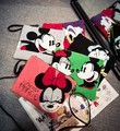Hot Sale Fashion cartoon pattern Mickey & Minnie Female Handbag clutch evening bag messenger bag shoulder bag envelope bag flap