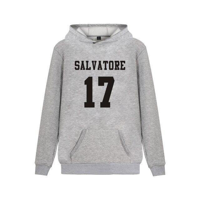 Salvatore 17 Vampire Diaries Mystic Falls Timberwolves Hoody Sweatshirts Print Salvatore 17 Mens Popular Clothing Casual Clothes