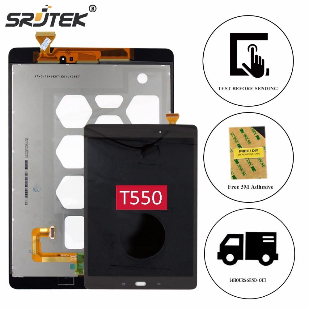 Srjtek 9.7 For Samsung Galaxy Tab A 9.7 SM-T550 T550 T551 T555 LCD Display Matrix Touch Screen Digitizer Sensor Assembly Parts