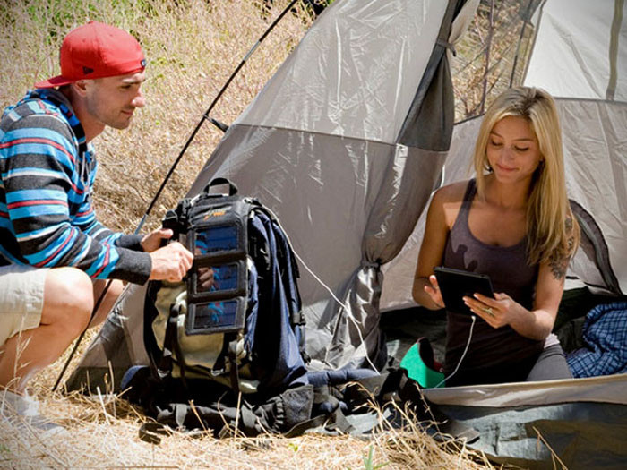 Camping solar panel charger