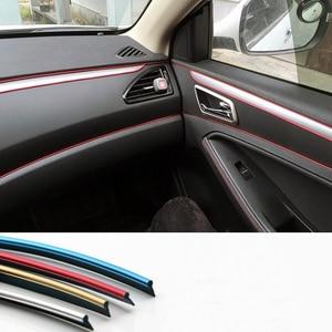 Image 2 - Car Interior Decoration Strips Moulding Trim Dashboard Door Edge Universal For BMW Lada Car  Accessories Strip Styling Sticker