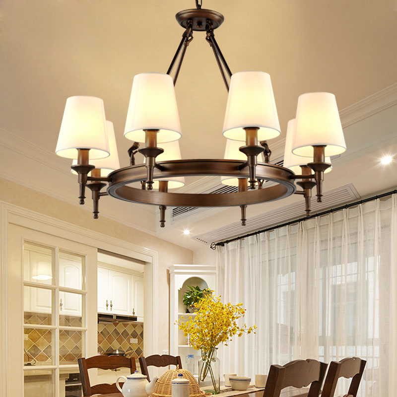 American chandeliers European retro wrought iron living room lamp modern minimalist garden bedroom lights American country lamps creative european country wood chandeliers artistic for living room decoration modern minimalist style wooden e27 pendant lamp