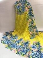 Wysokiej Jakości multi color print Tiul Koronki Francuskiej Koronki Tkaniny w Nowoczesny Design dla Suknia Ślubna Tanie Koronki Materiał J680