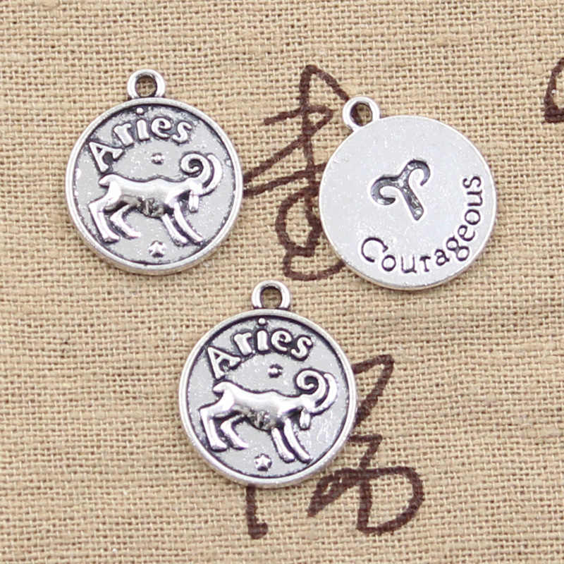 Pendenti e Ciondoli Pisces Zodiac Vigro Acquario Toro Scorpione Capricron Gemini 20x17mm Antico Che Fanno Tibetano Bronzo FAI DA TE Pendenti con gemme e perle