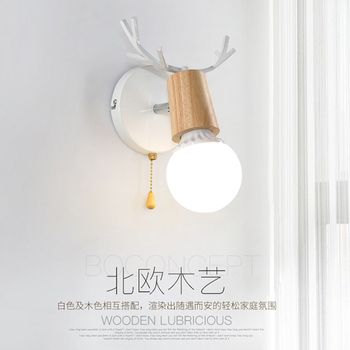 Nordic Minimalism Gold Led Bedside Wall Lamps Concise Glass Ball Study Mirror Bathroom Light Fixtures Free Shipping