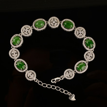 цены KJJEAXCMY Fine jewelry Natural and Tian Biyu Bracelet 925 sterling silver inlay wholesale new  luxury