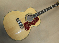 Best Qulity Custom Shop Burlywood AAA Solid Spruce Top J200 Venner Tiger Flamed Maple Sides Back