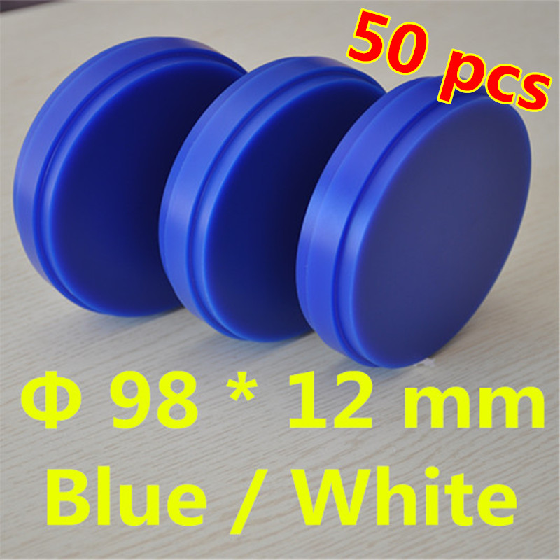Wholesale 50 Piece OD98*12 MM Dental Materials Wax Blocks CAD/CAM Wieland System Carving Blank Blue/White Dental Wax Disc crowns