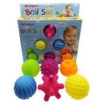 6 pçs/set Conjunto Desenvolver Sentidos Tátil do bebê Brinquedo Bola Brinquedo Do Bebê Toque de Mão Bola Treinamento Bola Brinquedos Do Bebê Massagem Bola Macia LA894335