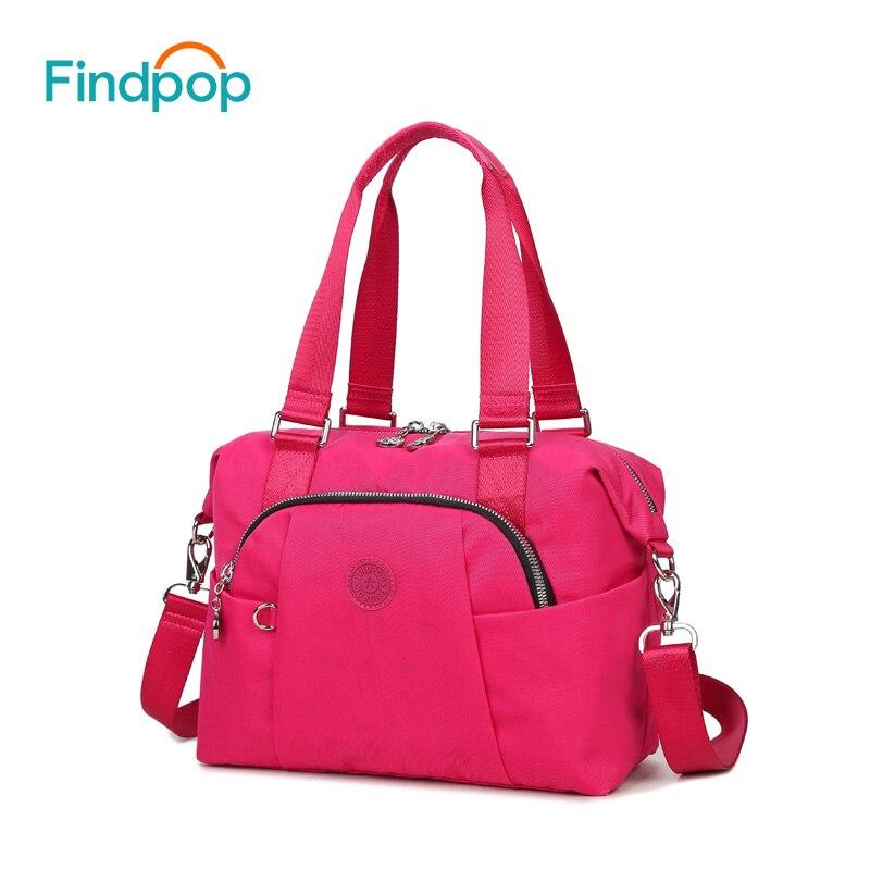 Findpop 2018 Новый Для женщин Кроссбоди мешок большой Ёмкость Водонепроницаемый сумки на плечо для Для женщин Bolsa feminina Холст Crossbody сумки
