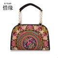 XIYUAN BRAND hot sale Southeast Asia fashion ladies floral embroidered handbag shoulder bag spring Ethnic crossbody bag
