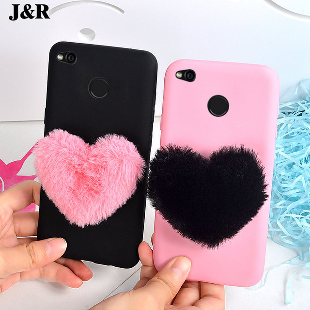 best service d3594 7a371 US $1.3 |J&R 3D Furry Love Heart Phone Case For Xiaomi Redmi 3S 3 Pro 4A 4X  5A 5 Plus Note 4 4X 5A Prime Mi 5X 6X Max Mix 2 2S Back Cover-in Fitted ...