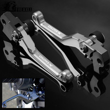 CNC Motocross Accessories Pit Pivot Dirt Bike Aluminum Brake Clutch Levers Motorcycles For YAMAHA XG250 XG 250 TRICKER 2004-2010 free shipping ed skid plate guard fit for yamaha xg250 tricker xt250x serow250