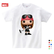 Roses and Guns T Shirt Band Tops N Clothing Tshirt Childrens Funny Hip Hop High Quality for Boy Girl Cartoon Unisex