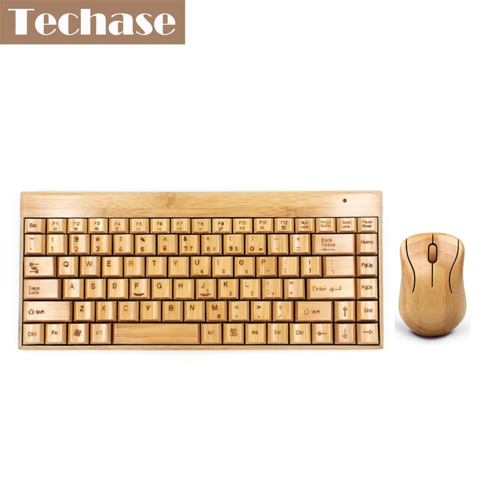 все цены на  Klavye Wireless Keyboard and Mouse Bamboo Teclado e Mouse Sem Fio Comptuer Keyboard Wireless Muis Combo Set Drop Shipping 2.4GHz  онлайн