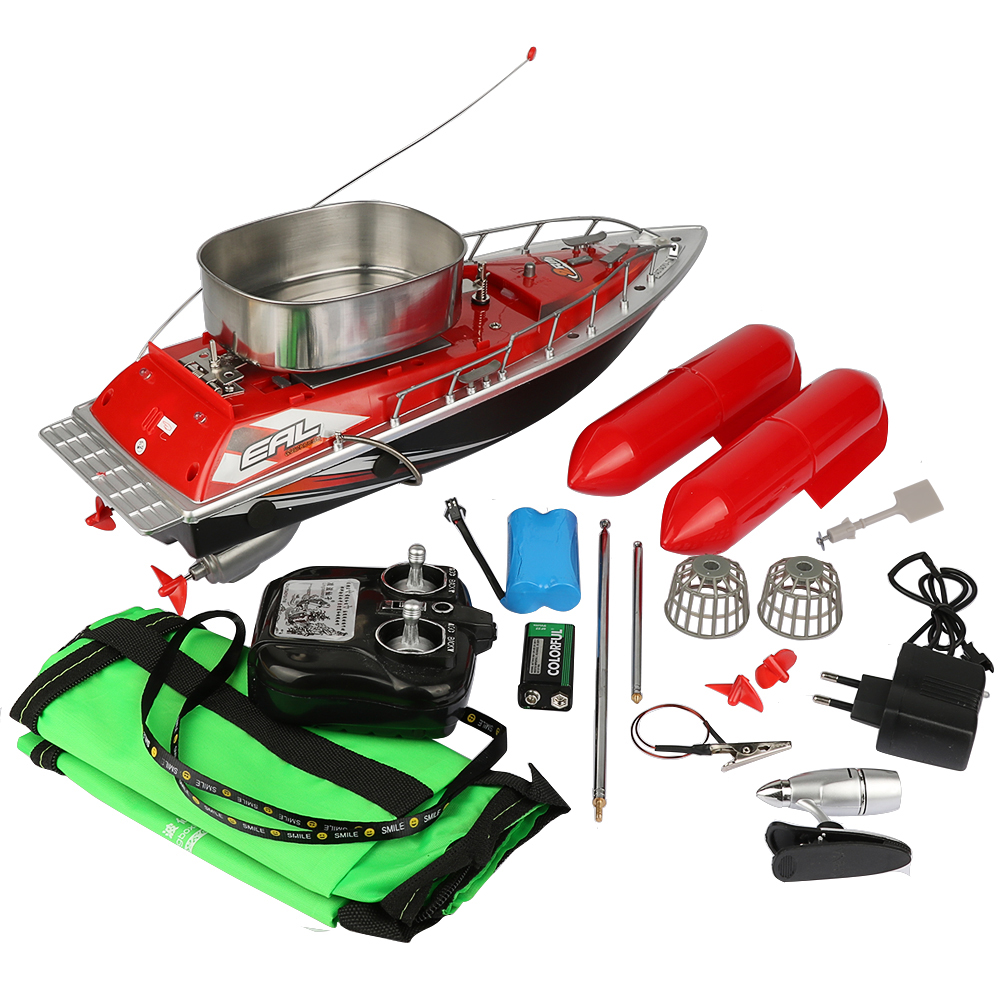 Goture Mini RC Bait Fishing Boat 260M Remote Control Feeder Lure Carrier Carp Fishing Accessories 5hours or 7hours happy cow 777 218 remote control mini rc racing boat model