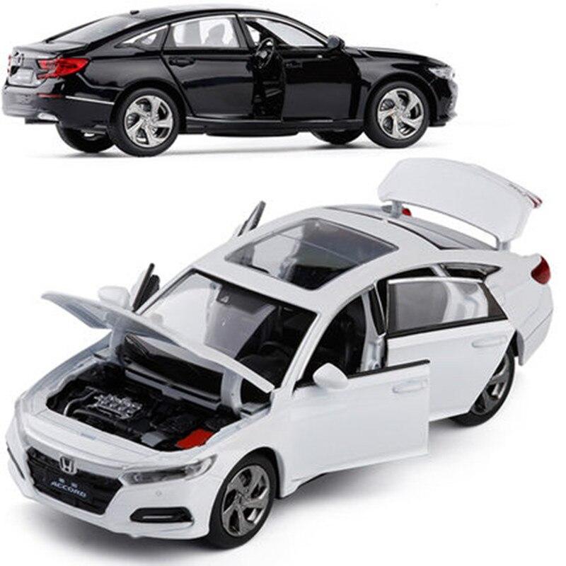 1:32 legierung ziehen zurück auto modelle, hohe simulation Honda Accord, metall gießt druck, pull zurück & blinkt & musical, freies verschiffen