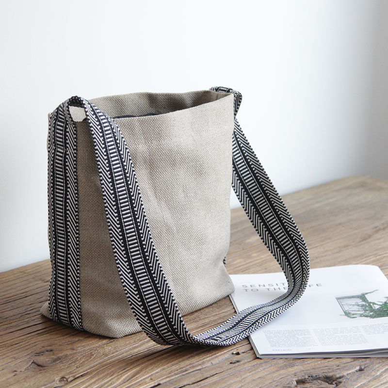 women cotton linen shoulder bags vintage cross body casual bags small fresh cloth  canvas retro message 6841c48a48546