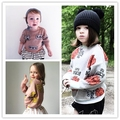 Ins * 2016 meninas do bebê de malha de algodão camisolas dos miúdos outono inverno top camisola moda confortável de alta qualidade 1-5Y frete grátis