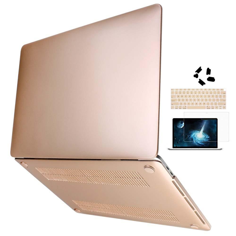 Metal Sprayed Hard Laptop Case For Macbook Pro 13 15 New Air 13 2018 - Նոթբուքի պարագաներ - Լուսանկար 5