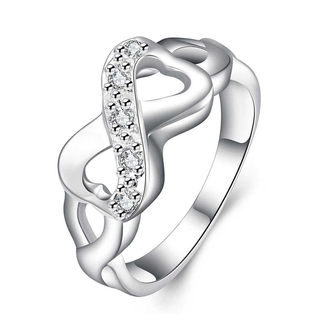 Double Love Zircon Rings The Black Friday Cool Replica Jewelry Love Finger Ring Gifts For Women Cheap Price Wholesale Turkish