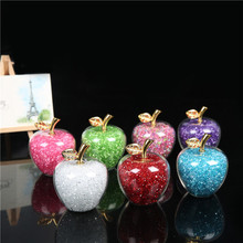 2'' Rainstone Crystal Apple Paperweight Glass Pretty Gifts Crafts Art&Collection Christmas Home Wedding Gifts Decoration