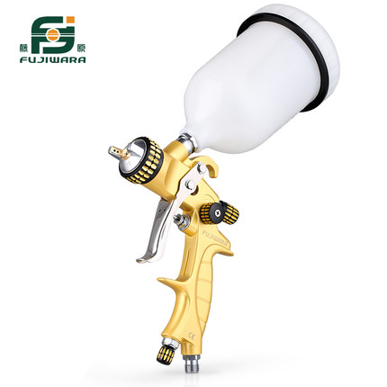 FUJIWARA 5000G Paint Spray Gun 100cc/600cc/1000cc Automobile Sheet Metal Painting Tool High Atomizing Upper Pot Pneumatic Paint fujiwara electric spray gun latex paint sprayer paint spray gun paint painting tools pneumatic high atomization 2 5mm