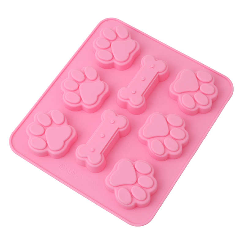 Diy Hond Poot & Bone Vorm Cakevorm Siliconen Gelei Kandijsuiker Mal Fondant Craft Cake Bakken Decoratie Ice Cube schimmel KO894600