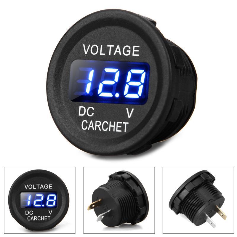 Top Store ACE CARCHET LED Display Car Digital Voltmeter Electric Voltage Meter Monitor Socket for Truck Automobile Motorcycle Digital Meter