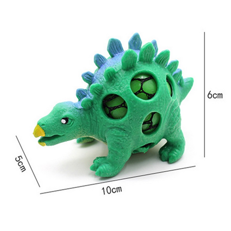Купить с кэшбэком DROPSHIPPING Dinosaur Squishy Mesh Ball Grape Squeeze Relief Fidget Autism Stress Toys Anti Stress Dinosaur Grape Ball Kids Toys