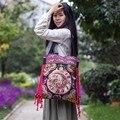 Hot Casual Tote bags! 2015 Novo agradável bordados sacos de ombro bordados feitos à mão étnica nacional saco clothshoulder bolsas