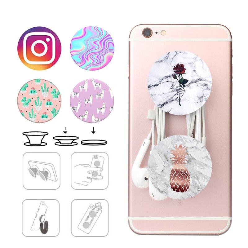 Popsoket Beautiful Pops Marble Pattern Pocket Socket Mobile Phone Holder Finger Ring Popsocet Expanding Stand And Grip Pipsocket