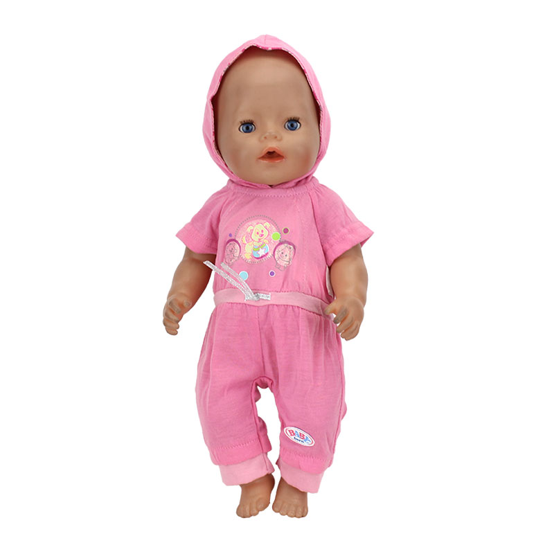 Red set HIgh quality set clothers Wear fit 43cm Baby Born zapf,  Children best  Birthday Gift(only sell clothes) meired grid jumpsuit hat wear fit 43cm baby born zapf children best birthday gift only sell clothes