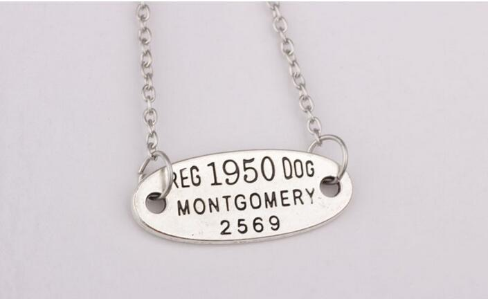 New arrival Hot sale fashion jewelry 12pcs/lot Antique silver Reg 1950 dog montgomery 2569 pendant necklace for jewelry gift
