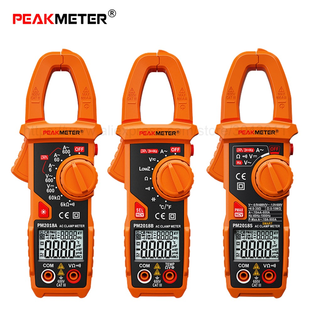 Handheld Smart DC/AC Digital Clamp Meter Multimeter 6000 count Anti-burn High Precision Ammeter Measurement Tester