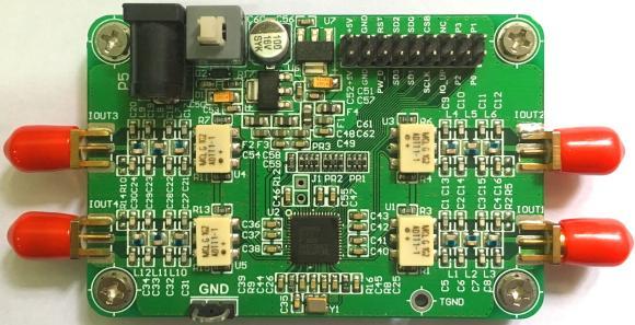 цена AD9959 Module Four Channel 200M DDS Module 4 RF Transformers Sine Modulation Linear Scan