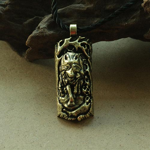 lanseis 1pcs viking wolf men necklace pendant nore wolf jewelry