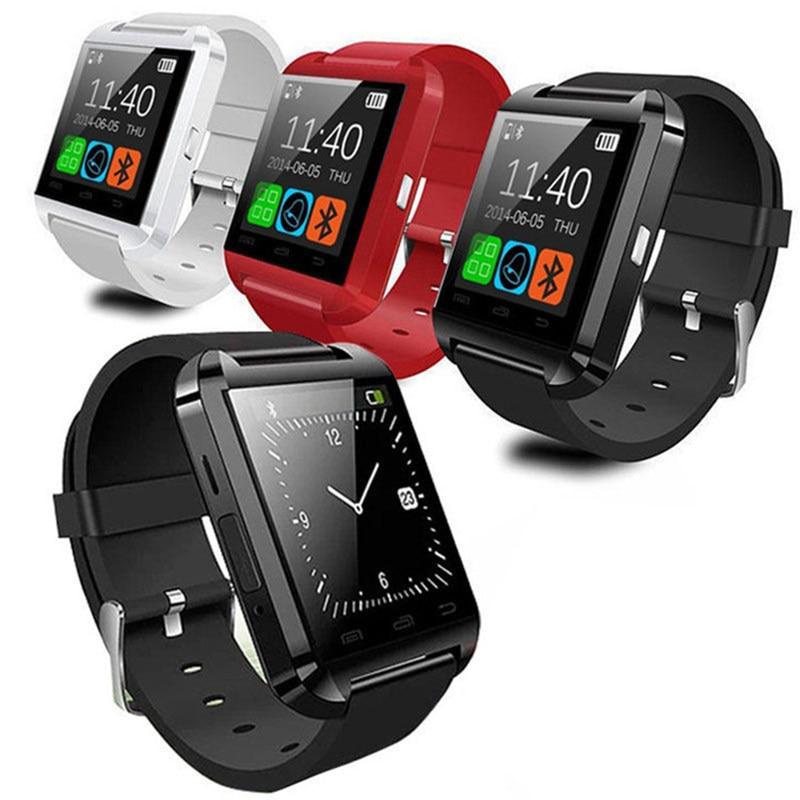 Bluetooth Smart U Armbanduhr SmartWatch U8 Uhr Mit Sport Pedometer Nachricht Sync Anruf Erinnerung Fernbedienung Keine Barometer