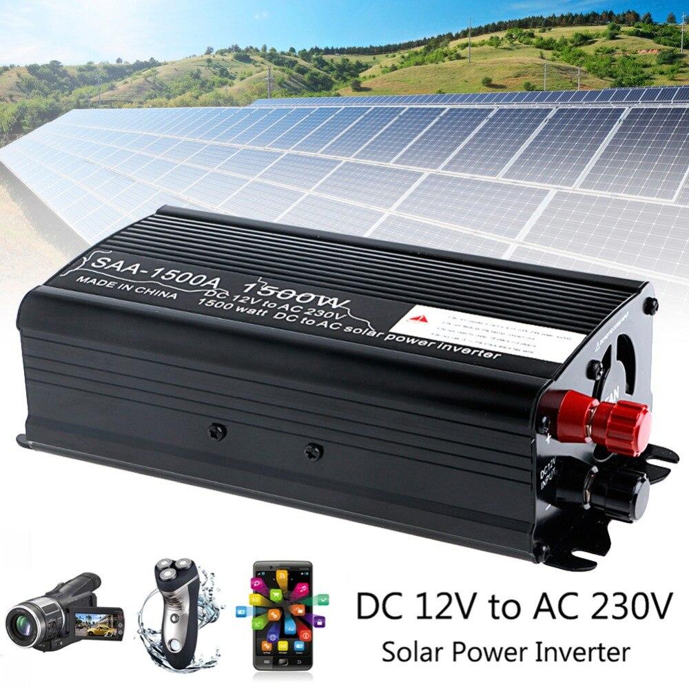 Solar Power Inverter 3000W Peak 12V DC To 230V AC Modified Sine Wave Converter 1500WSolar Power Inverter 3000W Peak 12V DC To 230V AC Modified Sine Wave Converter 1500W