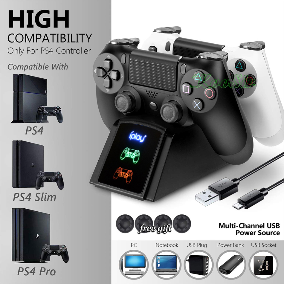 PS4/Schlank/Pro Wireless Controller Lade Dock <font><b>Station</b></font> PS <font><b>Play</b></font> <font><b>Station</b></font> <font><b>4</b></font> Joystick Ladegerät Stehen für <font><b>Sony</b></font> Playstation <font><b>4</b></font> spiel Basis image