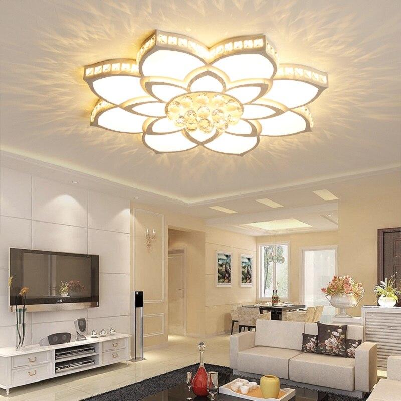 2018 cristal LED lustre salon lustre luminaria cristal pendentif plafond lustre éclairage kroonluchter livraison gratuite