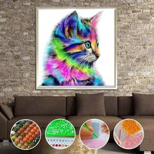 Colorful Drill 5D DIY Diamond Painting Squirrel Cat Mosaic Embroidery Animal 3D Cross Stitch Needlework Crafts Decoration 3