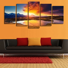 5 Painting Calligraphy Frame Tree Poster Painting Printing Picture Firecrackers Painting Canvas Wall Pictures Home Decor