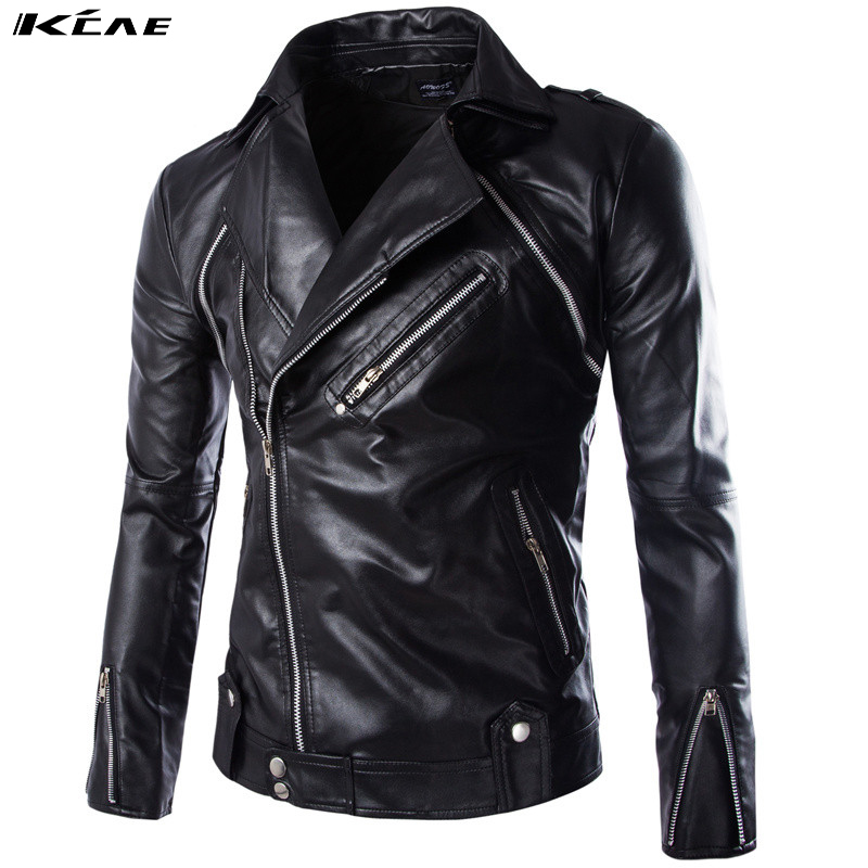 2017 Winter Leather Jacket Men Leather Jackets And Coats Faux Fur PU Leather Mens Casual Jacket M-XXL